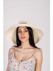 Шляпа широкополая Хелен Молочный 56 Молочный