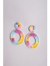 Серьги SER-21047 Разноцветный