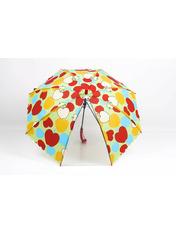 Зонт детский Лучик Красный Диаметр купола 114.0(см)/ Длина спицы 48.0(см)/ Длина в сложенном виде 66.0(см)