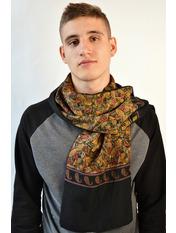 Чоловічі шарфи 274 (32А) Коричневый 125*28 Бежевый
