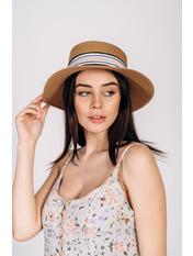 Шляпа федора Сарон Бежевый 57 Песочный