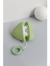 Чехол для наушников Apple Сердечко one size Зеленый Зеленый