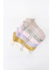 Носочки Лэйси упаковка Разные цвета 36-39 Желтый