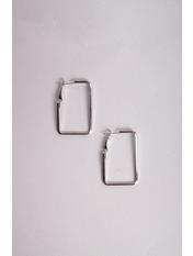 Серьги SER-21046 5*2,8 Серебристый