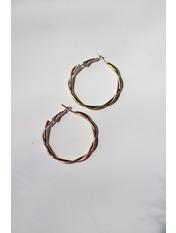 Серьги кольца SER-21001 Золотистый *