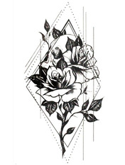 Бодиарт Цветы геометрия