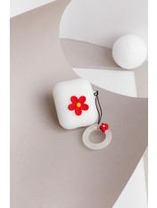 Чехол для наушников Apple Цветок one size Белый Белый