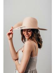 Шляпа широкополая Элена Розовый Пудровый 54-56