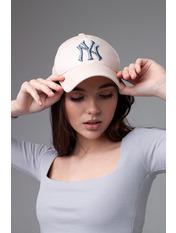Бейсболка NewYork 55-56 Молочный Молочно-джинсовый