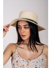 Шляпа канотье Джина Молочный Молочный 57
