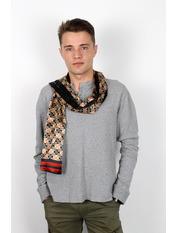 Чоловічий шарф Полукс 166*27 Бежевий Чорний+бежевий