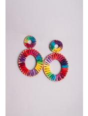 Серьги Лейла Разноцветный  9,0*5,5 Разноцветный