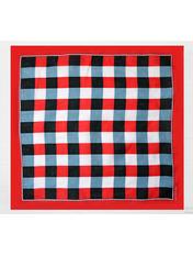 Банданы оригинальные Красный 55*55 Красный+синий+белый