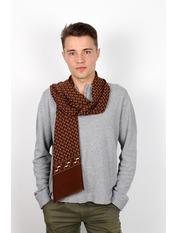 Чоловічий шарф Кастор 160*30 Коричневий Світло-коричневий