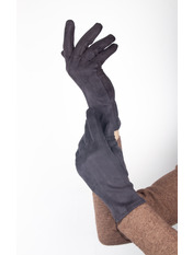 Женские перчатки Тайси Серый S Графитовый