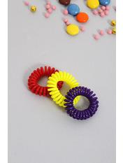 Набор резинок Руби Ширина 1(см)/ Диаметр 3.5(см) Разноцветный Красный+фиолетовый+бирюзовый