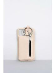 Чехол для iPhone Брелок XR Розовый Пудровый
