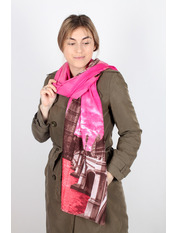 Палантин Династия Флоре 180*70 Розовый Розовый