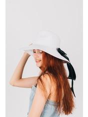 Шляпа широкополая Доминика Белый Белый 54-56