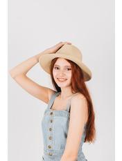 Шляпа федора Гелия Бежевый Песочный 54-56