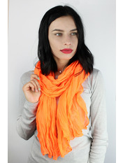 Шарф Косичка однотонный 170*50 Оранжевый Ярко-оранжевый