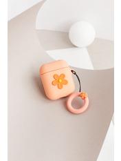 Чехол для наушников Apple Цветок one size Оранжевый Персиковый