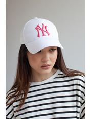 Бейсболка NewYork Белый 55-56 Бело-розовый