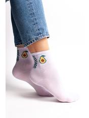 Носки  Розовый Лиловый