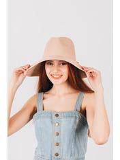 Шляпа широкополая Доминика Розовый Пудровый 54-56