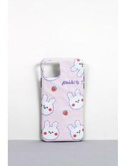 Чехол для iPhone Зайчик 7+/8+ Розовый Пудровый