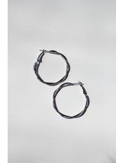 Серьги кольца SER-21001 Серебристый *
