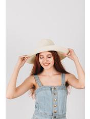 Шляпа широкополая Доминика Молочный Молочный 54-56