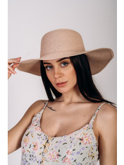 Шляпа широкополая Анджела Розовый Пудровый 56