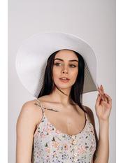 Шляпа широкополая Полин Белый 57