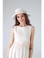 Шляпа канотье SHL-1792 Белый 57