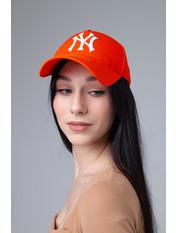 Бейсболка NewYork Оранжево-белый 57-58 Бежевый