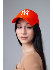 Бейсболка NewYork Оранжево-белый 55-56 Бежевый