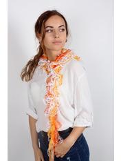 Шарф Клавдия Длина 105(см)/ Ширина 15(см) Оранжевый Оранжевый