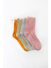 Носочки Фреда упаковка Разные цвета 36-39 Серый