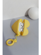 Чехол для наушников Apple Сердечко one size Желтый Желтый