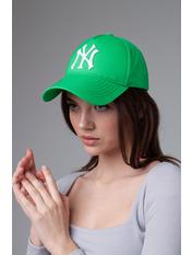 Бейсболка NewYork Зелено-белый 55-56 Зеленый