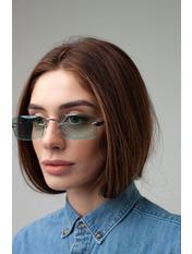 Имиджевые очки S31528 Общая ширина 14(см)/ Высота линзы 4(см)/ Ширина линзы 5,5(см) Бирюзовый