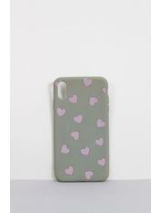 Чехол для iPhone Сердечки XR Серый Серый