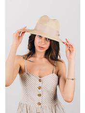 Шляпа федора Адель Бежевый 54-56