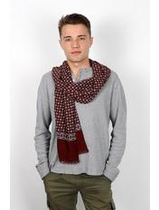 Чоловічий шарф Кастор 160*30 Бордовий Бордовий