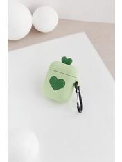Чехол для наушников Apple Два сердечка one size Зеленый Зеленый
