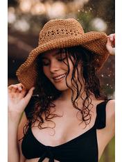 Шляпа слауч SHL-2008 Коричневый 58