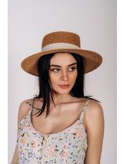 Шляпа федора Доминик Бежевый 56 Песочный