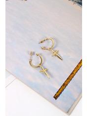 Серьги Илана Золотистый Золотистый Длина 4.5(см)/ Ширина 0.5/1.5(см)