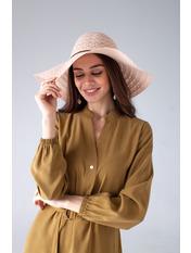 Шляпа широкополая Кими 57-58 Персиковый Оранжевый